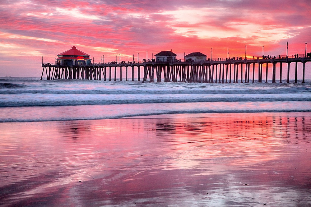 Red Pier Sunset