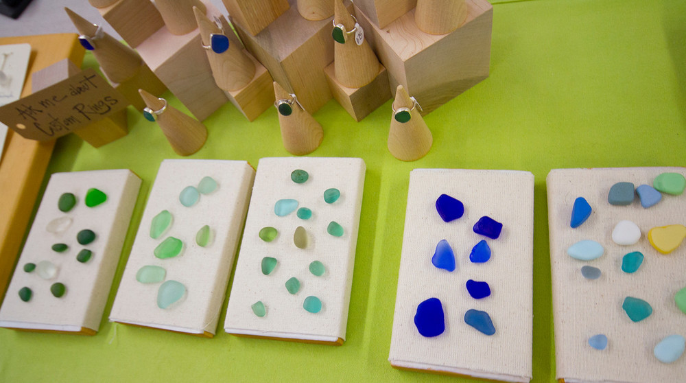 Sea Glass Rings