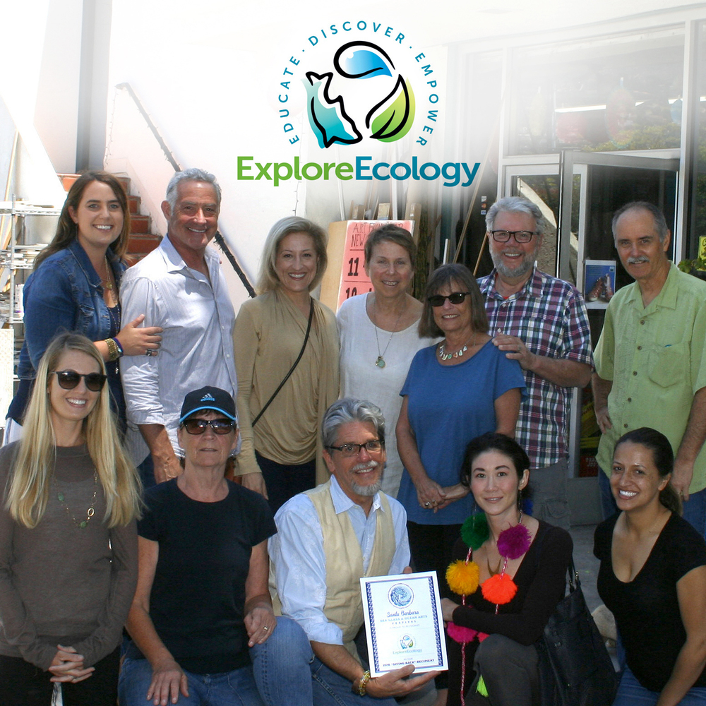 "The Santa Barbara Sea Glass & Ocean Arts Festival Committee names Explore Ecology – the 2016 ""Giving Back"" Recipient."
