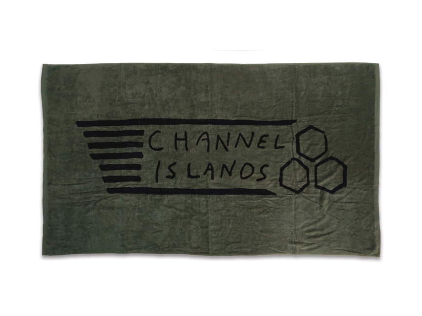 Flag Beach Towel - Army Green.jpg