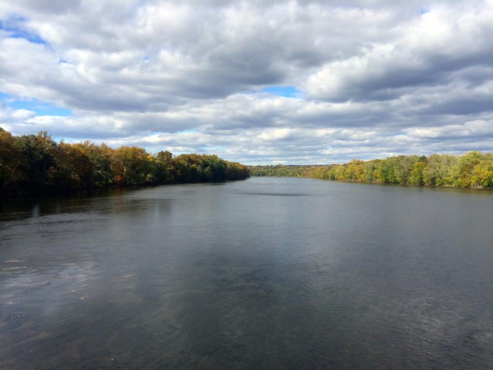 The view from the bridge across the Delaware in Frenchtown