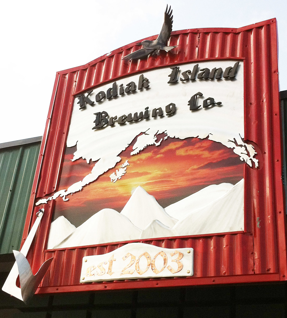 Kodiak Island Brewing Sign