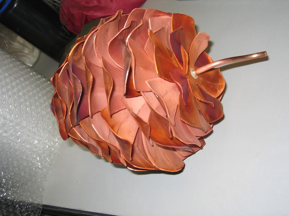 Copper Pine Cone