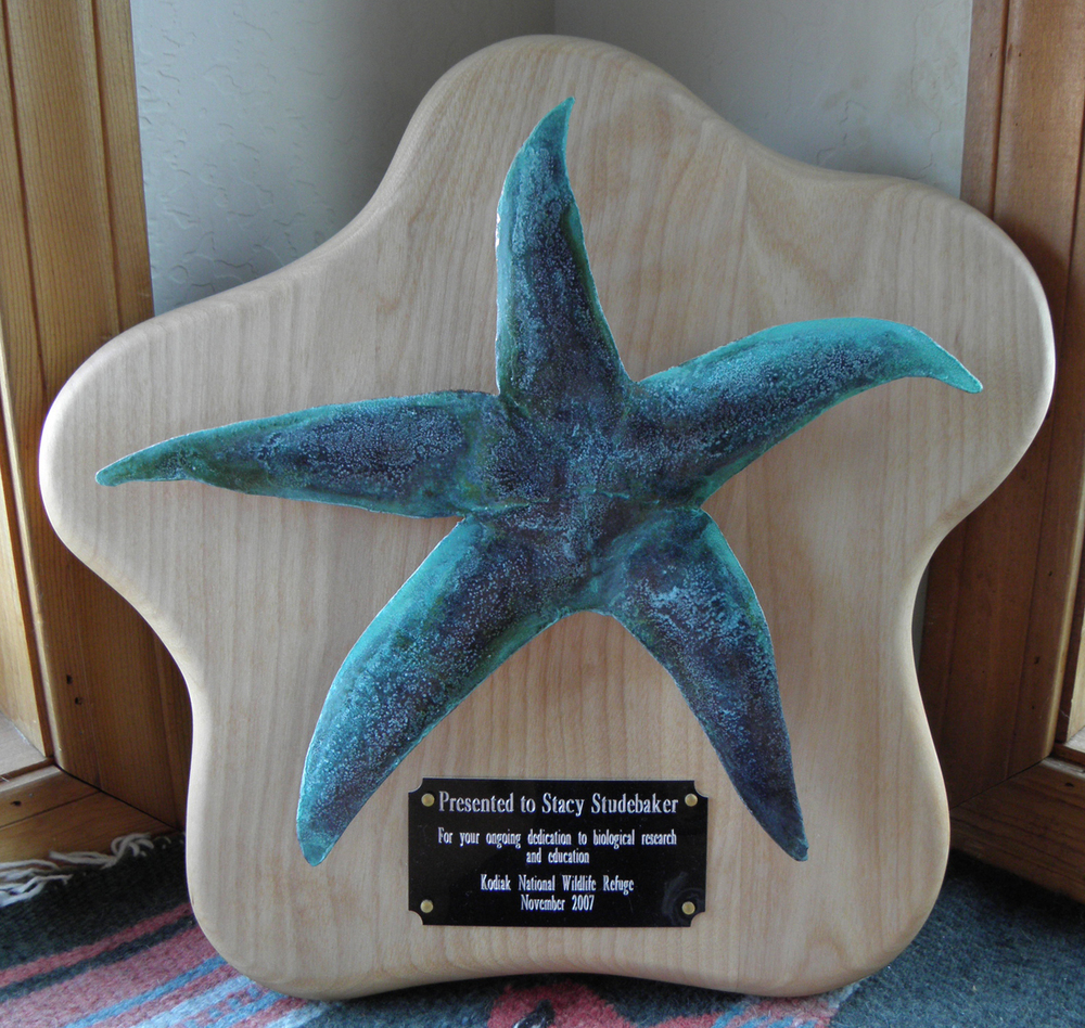 Copper Starfish Plaque