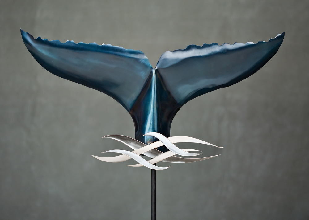 Steel Whale Tail With Waves