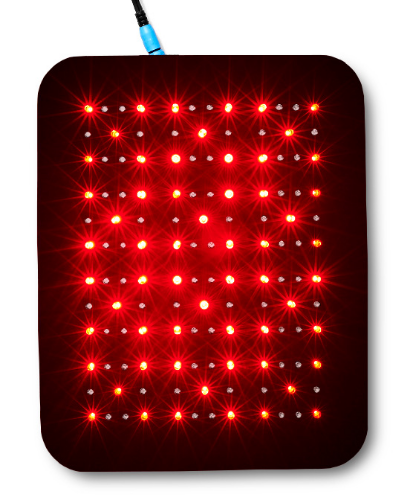 Our Medium Light Therapy pad has 132 LEDs