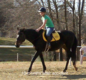 Dancer is back at work, thanks to Equine Light Therapy
