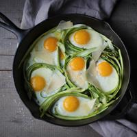 Asparagus, Eggs + Parmesan