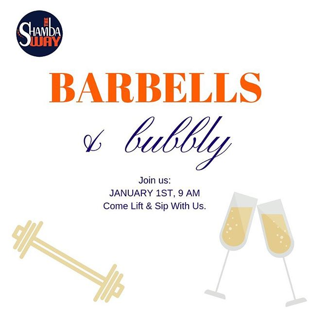 Don't miss out New Year's Day!! 9 AM class + mimosas 🥂🏋🏻♀️🎉🍾 #theshambaway #tsw #gymlife #costamesa #newportbeach #newyearsday #nye #2019