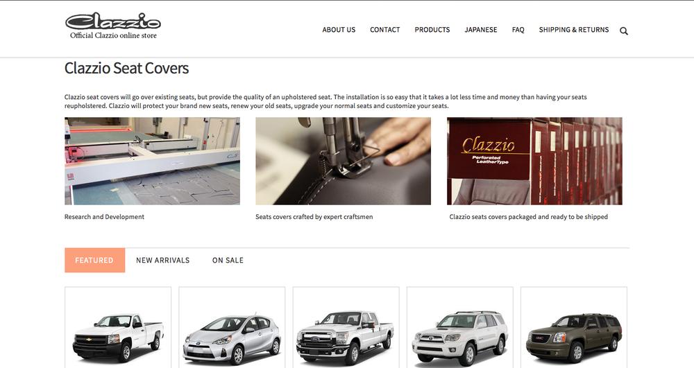 Website design for Clazzio