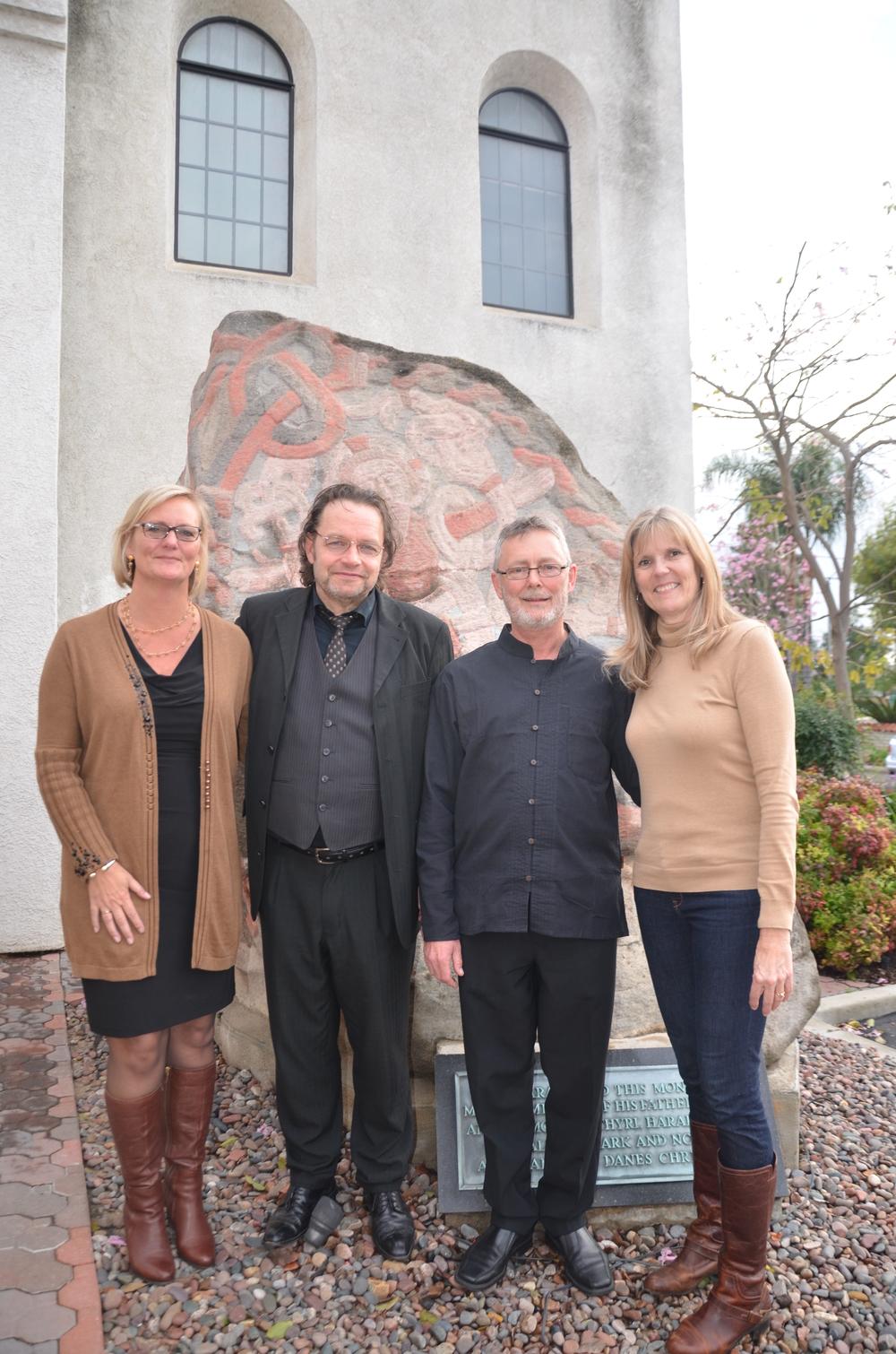 Pastor Anne-Grethe,  Jochen Brusch, Sven-Ingvart Mikkelsen, Anna-Lisa