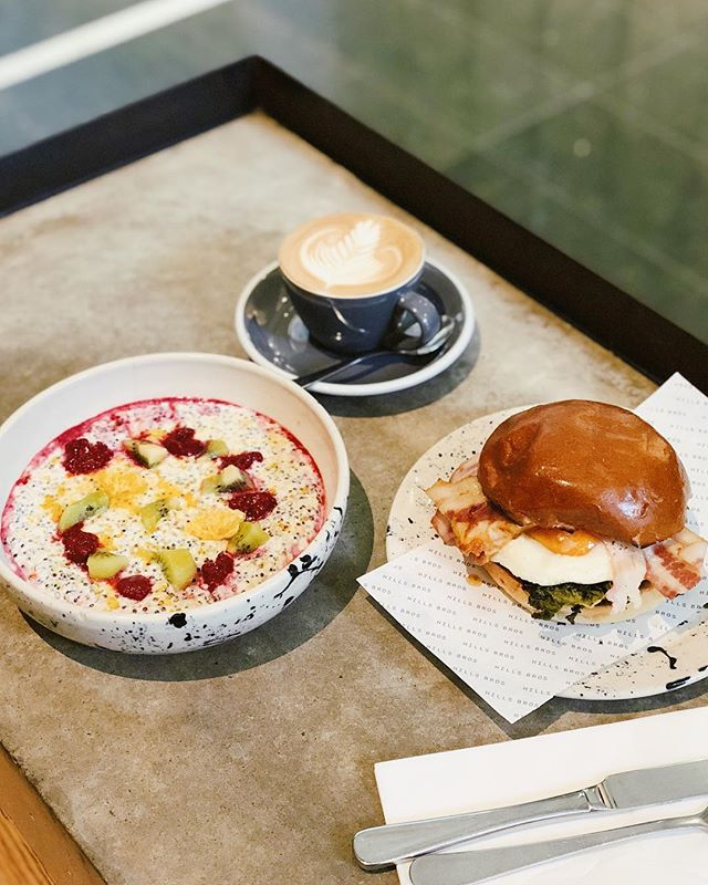 Whether it's the quinoa porridge or our bacon and egg roll, you're spoilt for choice here at Hills Bros. . . . #hillsbrossydney #sydneycafe #sydneycoffee #sydneyeats #breakfastinsydney #martinplace #sydneycbd #sydney
