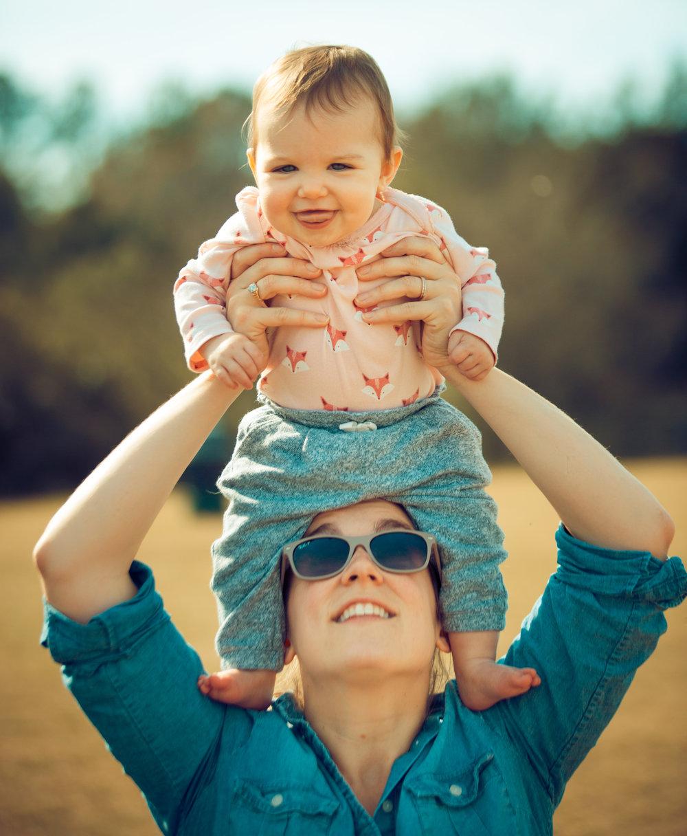 Corinne & Baby Alice      Social Media Direcor and Intern