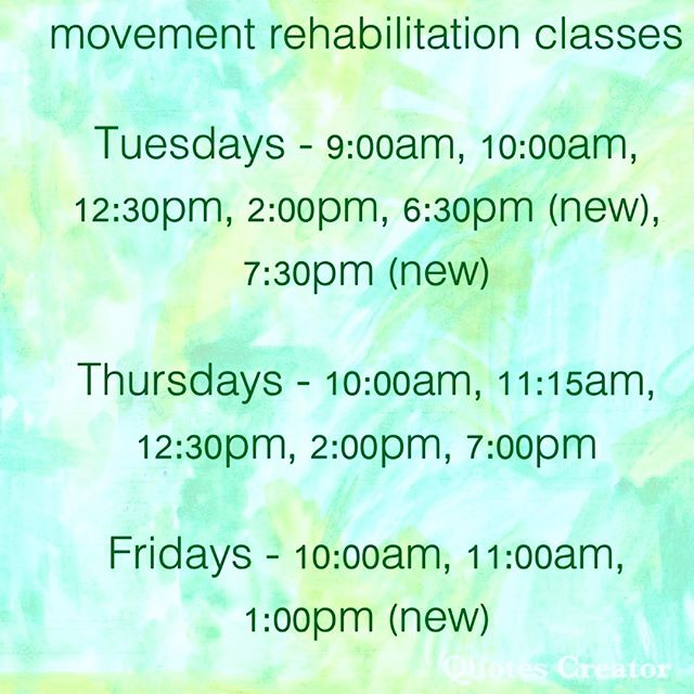 Our movement rehabilitation classes are facilitated by your physiotherapist in either a semi-private or small group format.  Evidence based Physiotherapy protocol is individually tailored to your specific requirements as determined in your initial assessment.  Feel the difference a movement rehabilitation session can make for you!  Call Sarah 0421 733 568  Initial assessment essential . . .  #amityclinicalmovementstudio #movementrehabilitation #physiotherapy #physiotherapist #evidencebasedexercise #exercisetherapy #chronicpain #movewell #frankstonsouth #morningtonpeninsula