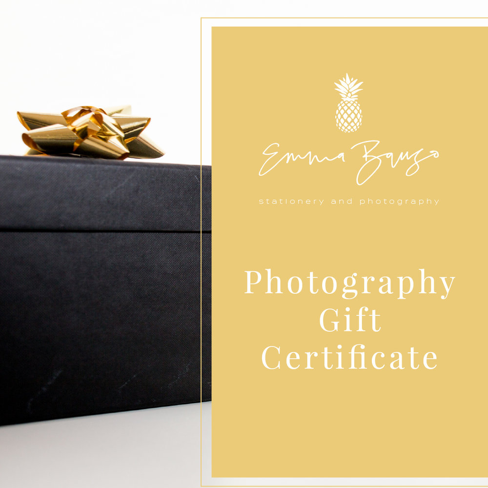 Photography Session Gift Certificate