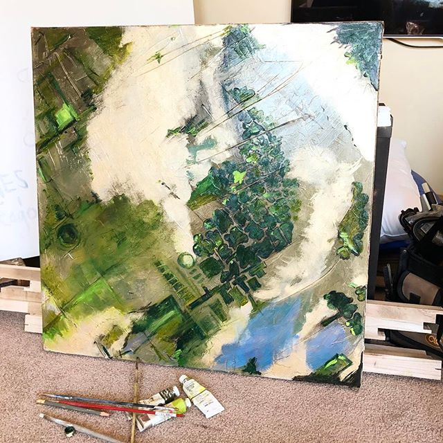 #newwork #workinprogress #aerial #aerialview #oilpaint