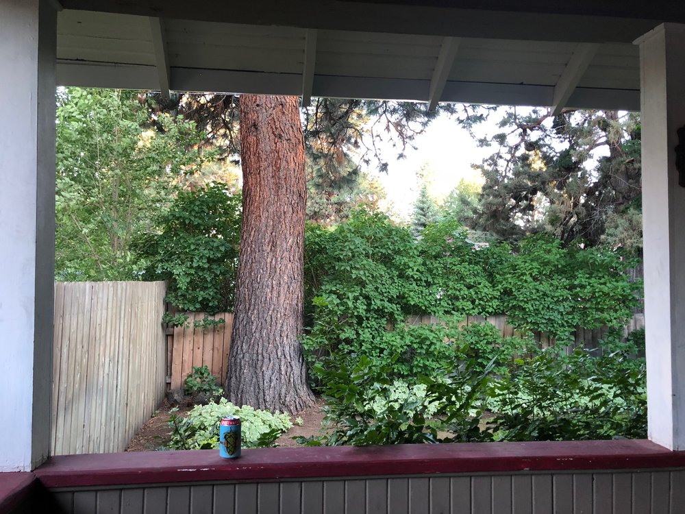 The view from the front porch of our rented house in Bend. This is where my Lisfranc recovery planning took place.