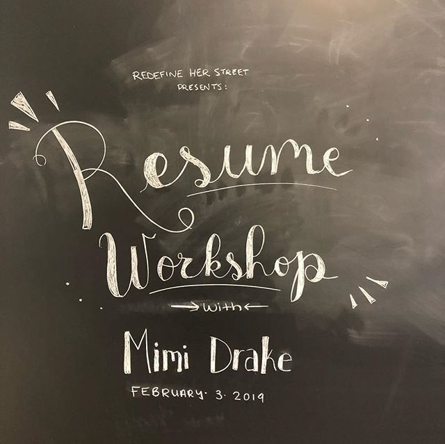 It was a lovely day for a Resume Workshop—thank you again to Mimi Drake for your insight and for graciously bringing lunch!