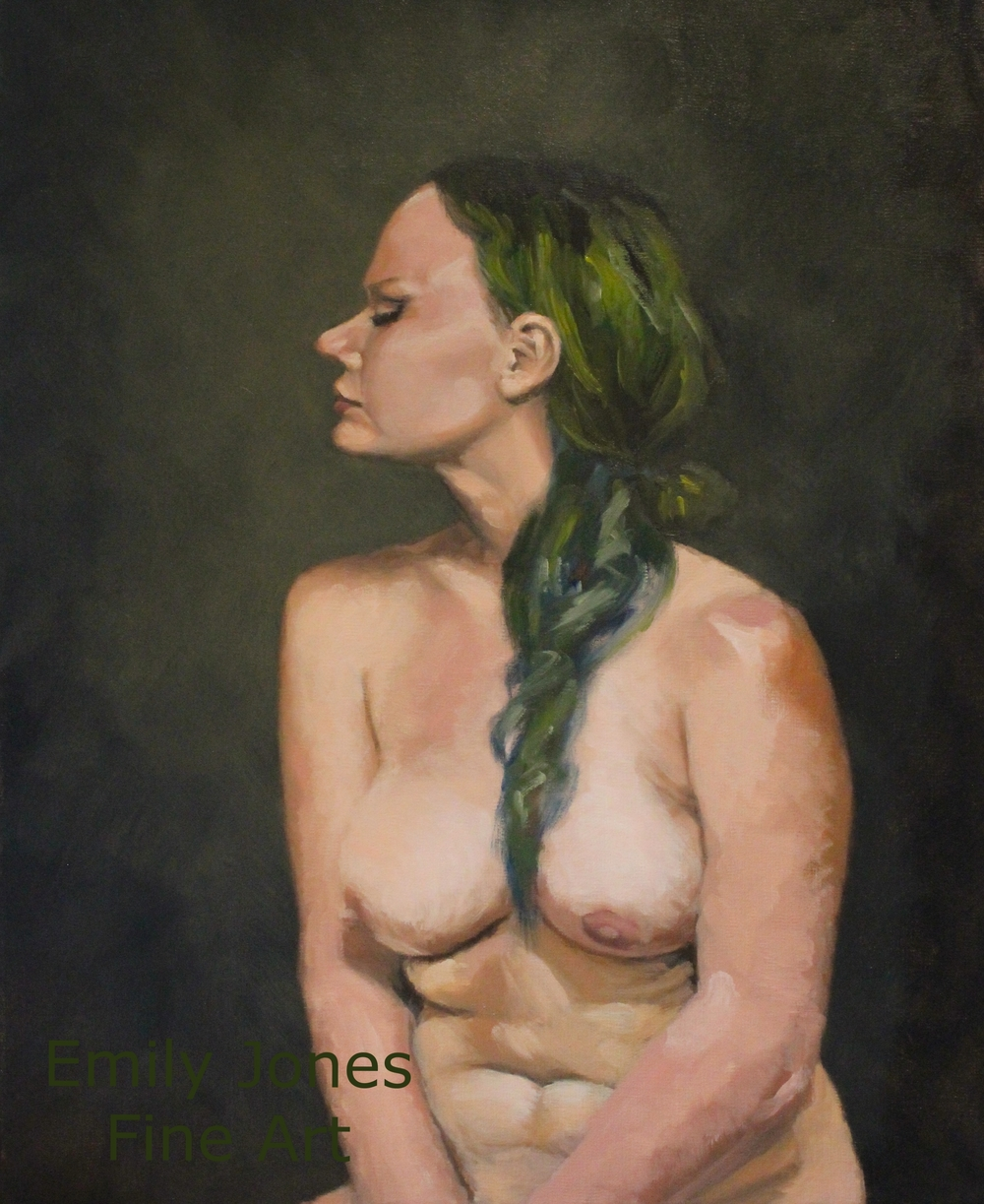 Nude With Green Hair  | Eight Hour Study | 2014 | Oil on linen