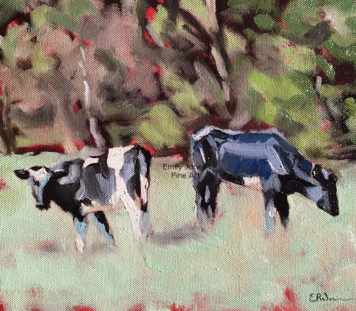 Margate Calves  | 2017 | Oil on canvas | 30 x 25cm To enquire about this artwork, please contact me directly  HERE