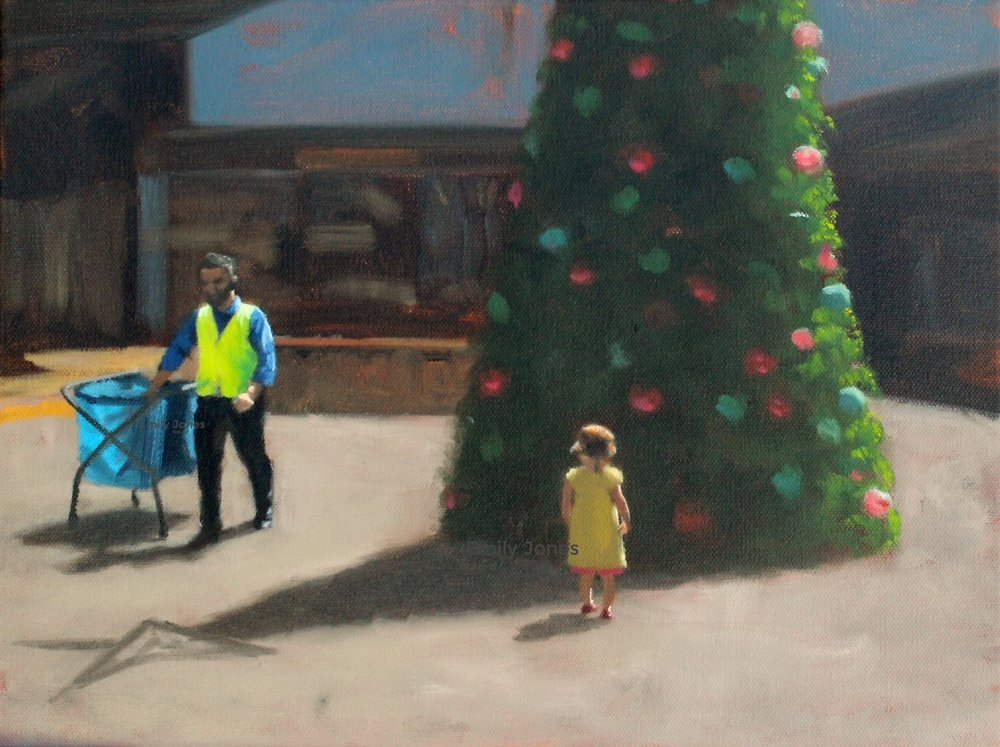 Summer At The Shops  | 2018 | Oil on canvas