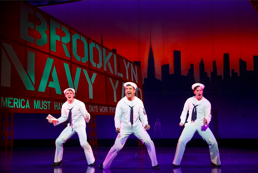 "Jay, Tony Yazbeck & Clyde Alves in ""On the Town""  - Photo by Joan Marcus"