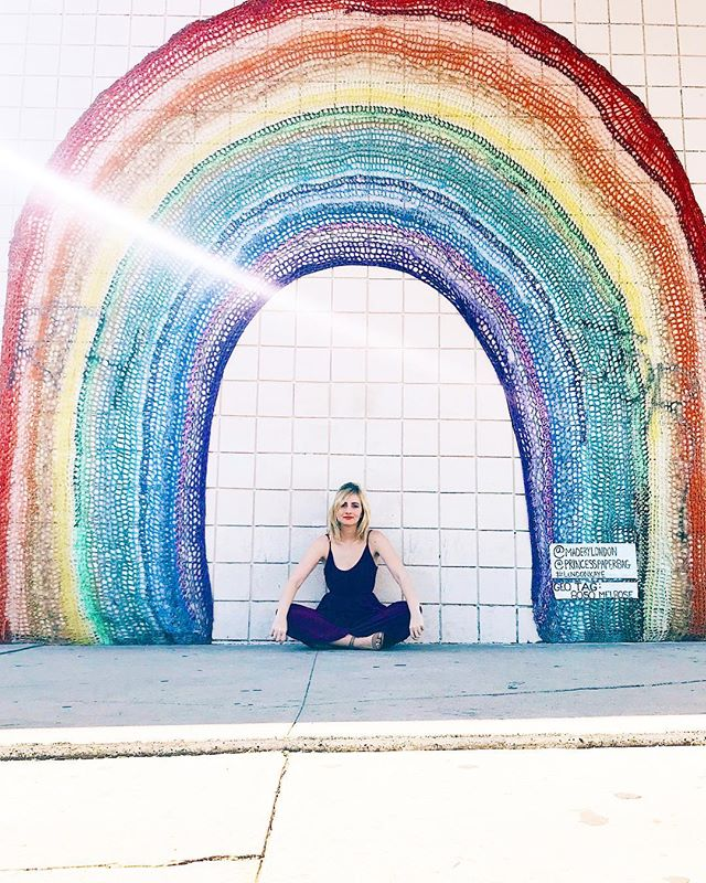 """""""Our life is shaped by our mind, for we become what we think."""" 🌈 Buddha _ WORLD MEDITATION DAY ✨ — I didn't always meditate. In fact, I only recently made it part of my daily routine. (Mostly because I realized that people who meditated seemed happier and nicer than me. 😂🤷🏼♀️) _ If you haven't tried it or think it's dumb or feel like you suck, HEAR ME OUT. _ Do what works for YOU. I don't care if you meditate while lying down in bed (that's what I do), sipping your morning coffee, running on the treadmill, soaking in the bathtub, or hanging from a goddamn tree. IT DOESN'T MATTER. _ All that matters is that you take a few minutes to BREATHE and """"JUST BE."""" _ You can let your mind wander. Or try to silence it. Or focus on your breath. Or do visualizations. Or say a mantra. Or anything. Or everything. Again... it doesn't matter. _ I like to do a few minutes of visualization meditation every morning when I wake up. It sets the tone for my day and makes me a """"somewhat"""" pleasant person. _ ▶︎ Life is CONSTANTLY pulling us in a million different directions, most of which, we probably don't want to go in. Meditation is the one time of the day when I get to be wherever the hell I want. ◀︎ _ Sometimes it's a tropical island. Sometimes it's NYC. Sometimes it's nothing and nowhere. Sometimes I'm hanging out with Oprah eating bread, talking about my latest book. _ You pick. The power is yours ⚡️ Happy World Meditation Day! Xo."""