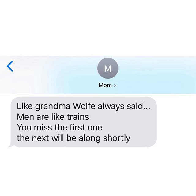 Mom dropping some WISDOM via my great-grandma Wolfe! 😂❤️ (I just wanted to share incase one of you needs this reminder right now) 🚞 Xo.