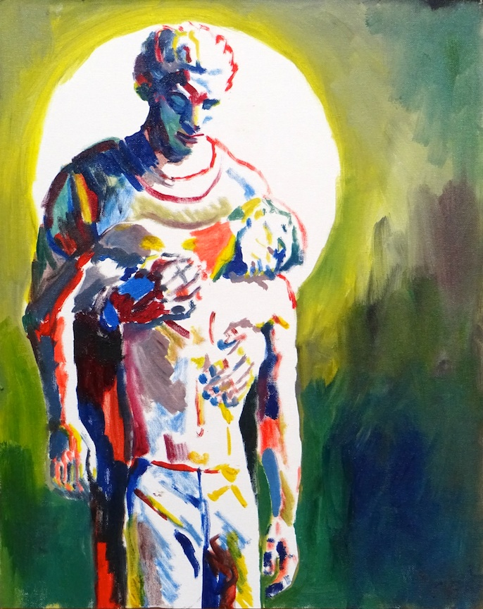 Joseph 4, an oil sketch on canvas, 16x20 in / 40x50 cm