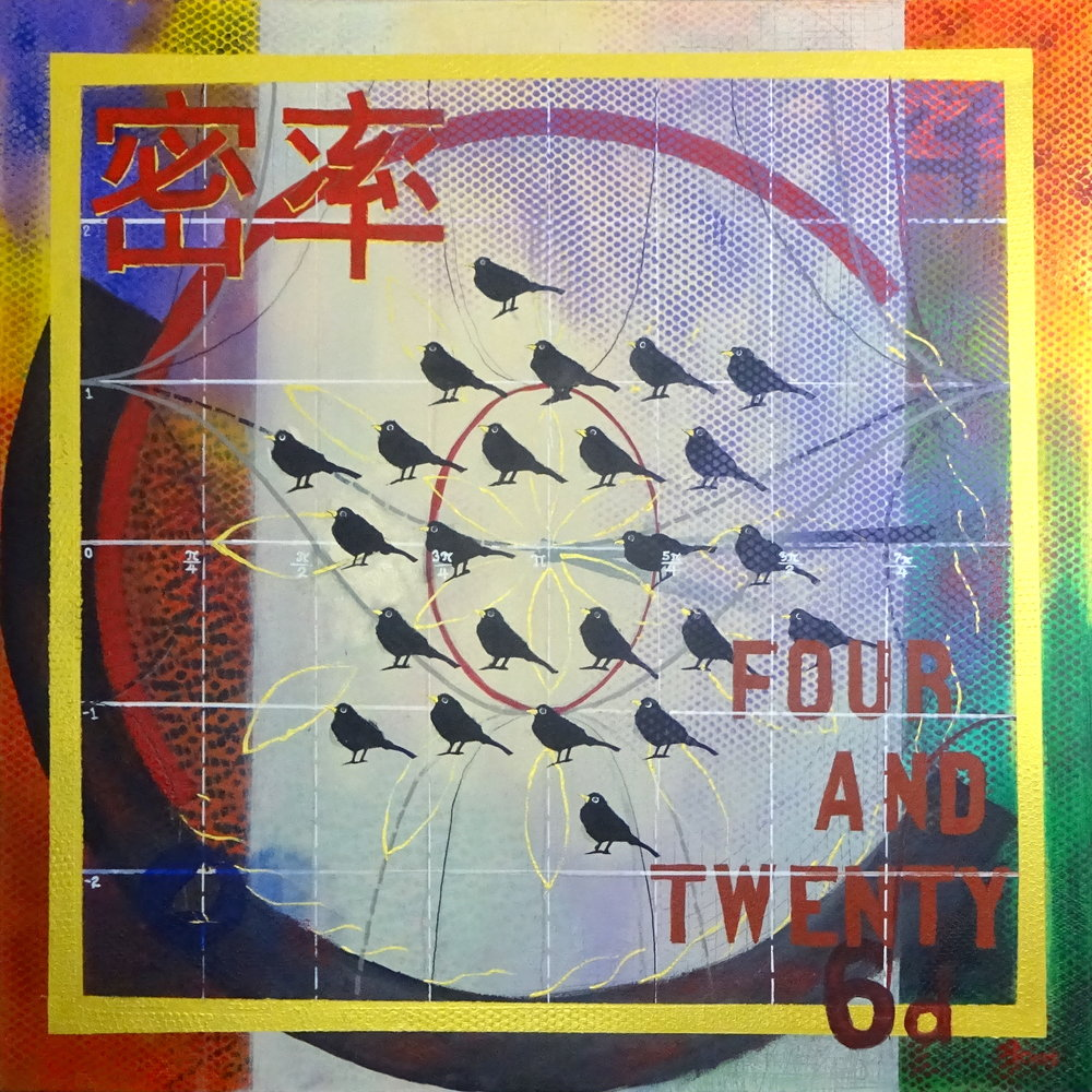 Pye (?), acrylic on canvas, 40 in / 102 cm square, 2018