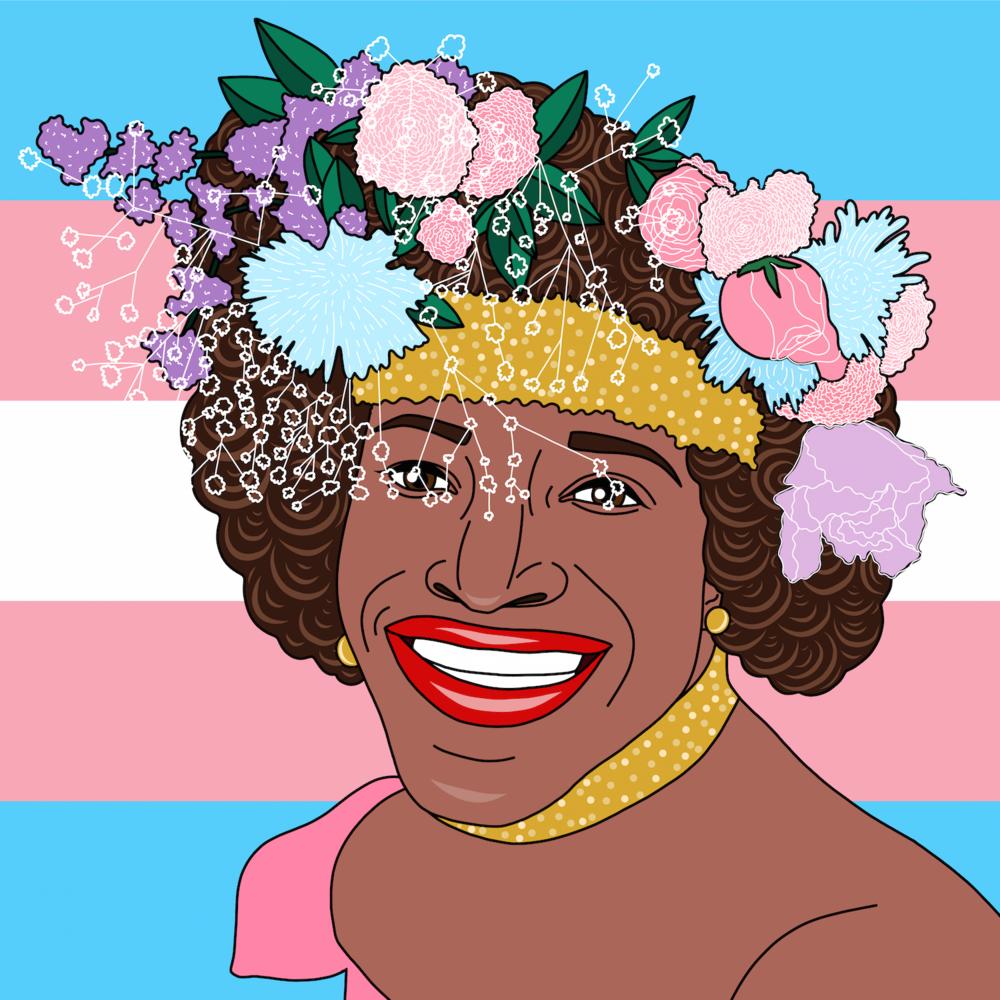 Marsha P. Johnson transgender icon, advocate, and activist.