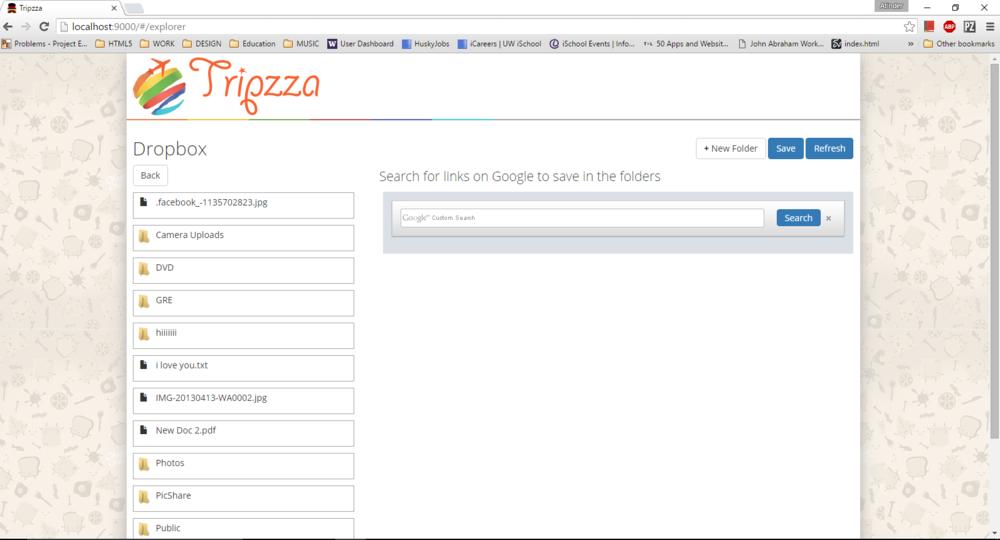 Tripzza Homepage