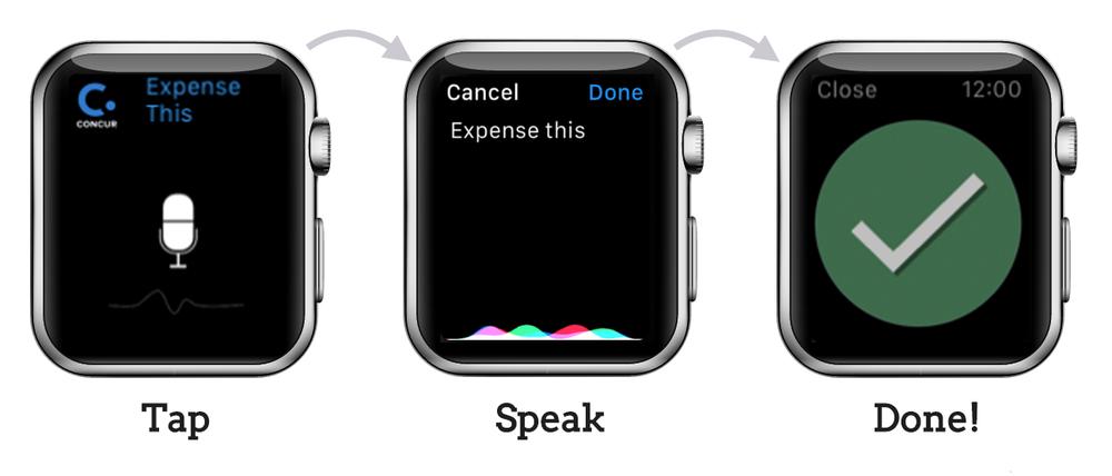 tap-speak-done user flow
