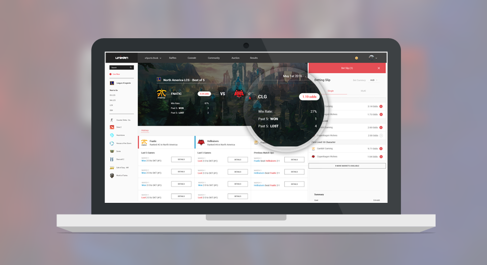 Capstone Project for Unikrn.com -  Product Manager  ( User Experience Research & Design)