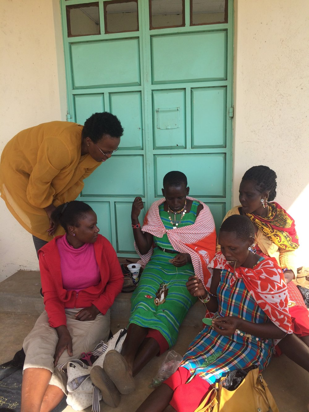 Maasai Beaders training.JPG