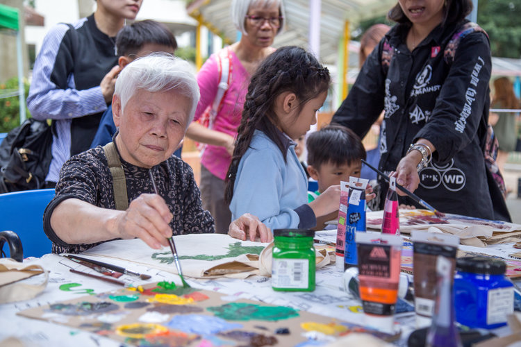 In touch with community - We collaborated with Yan Oi Tong this year to make workshop at Public Space in the neighborhood. This bridges the elderly with the neighbors in a more dynamic level. Read more.