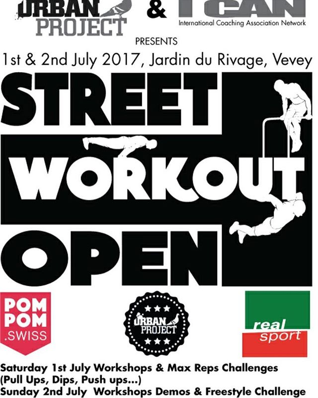 Check out the #StreetWorkoutOpen #SWO this weekend in Vevey organised by @njingakwan! Two days filled with Street Workout & Fun! Place to be! #sswc #swissstreetworkout #streetworkout #calisthenics #uniksports #unikevents #realsport #gornation #urbanproject #freestyle