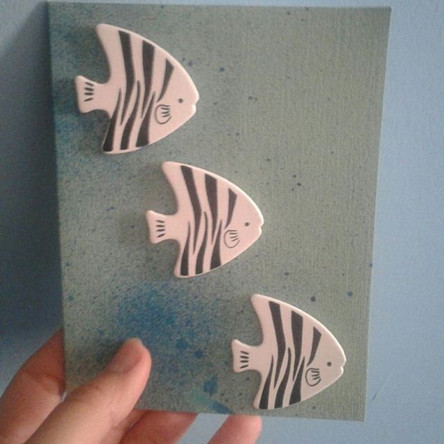 Sea theme cards  #summer #handmadecards #fishy #dotsbytya #anchor