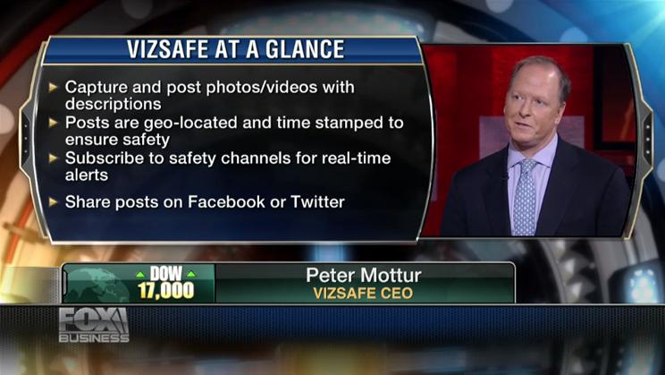 Peter Mottur, Vizsafe CEO
