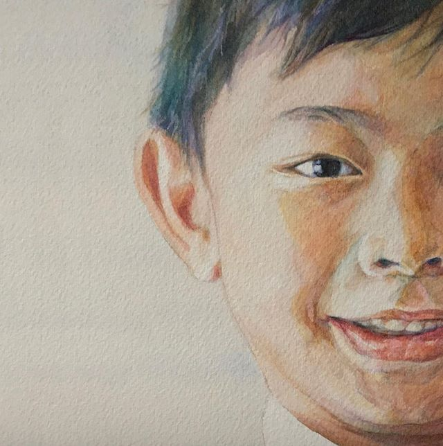 This boy is ❤️. So happy his #portrait will be part of an exhibit for a good cause.
