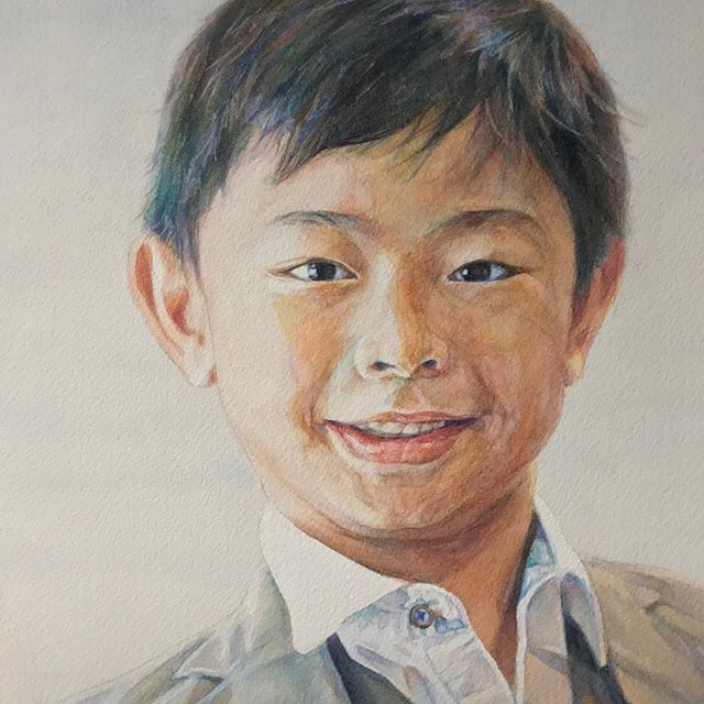 Those tapered eyes ✨☺️ Javier at 7.