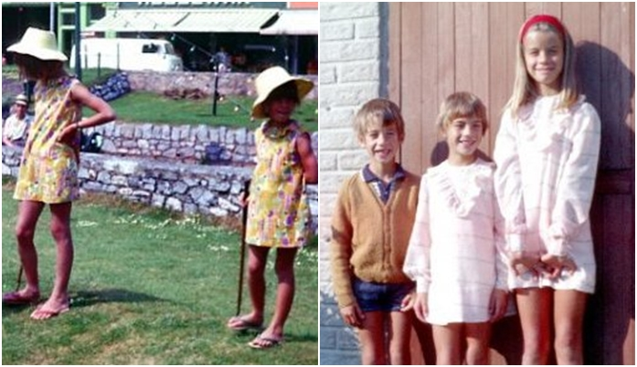 My sister and I.  Mum always made us matching dresses!