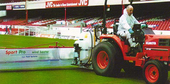The first hybrid boom & sprayer - specially made for Arsenal Football Club