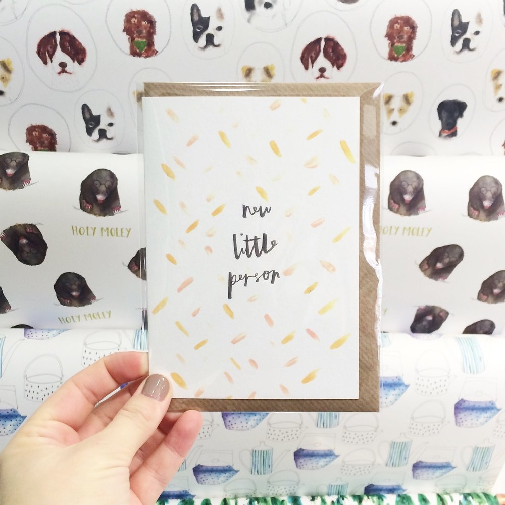plewsy new baby card