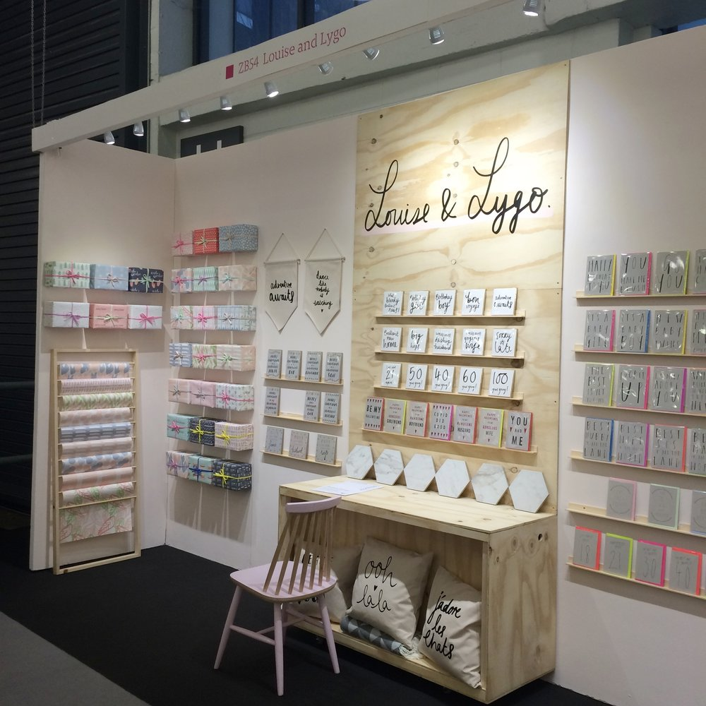 Louise & Lygo - gorgeous gift wrap display!