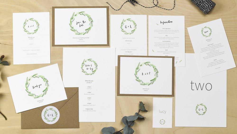 yorkshire wedding stationery plewsy