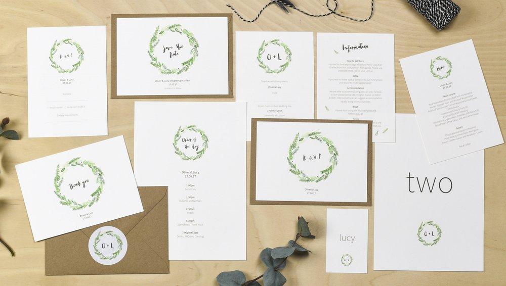 yorkshire wedding stationery plewsy
