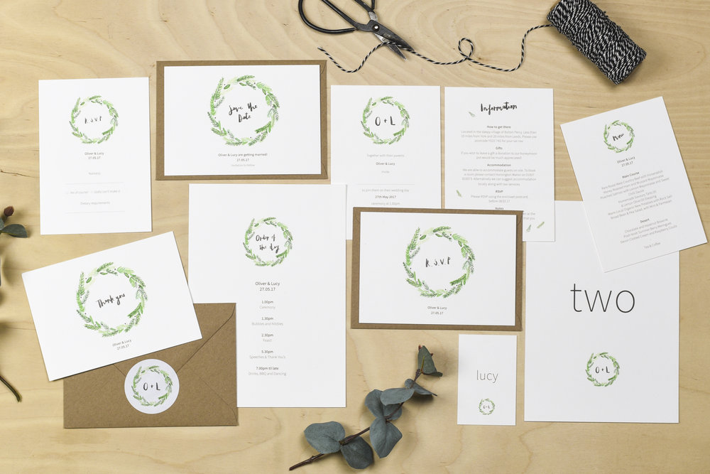 yorkshire wedding stationery