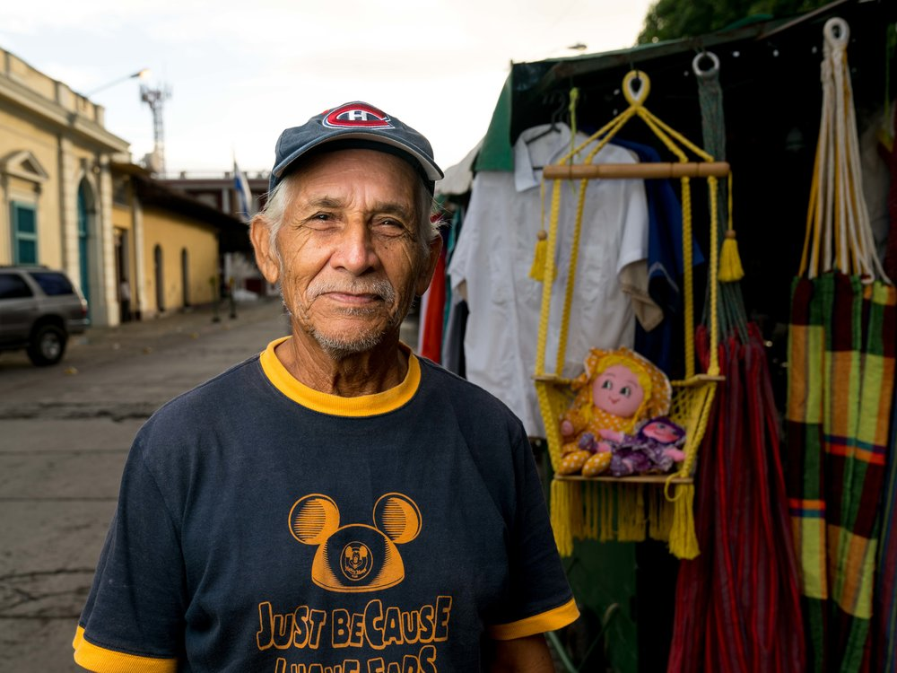 This man runs a small stand in the central park area of Granada