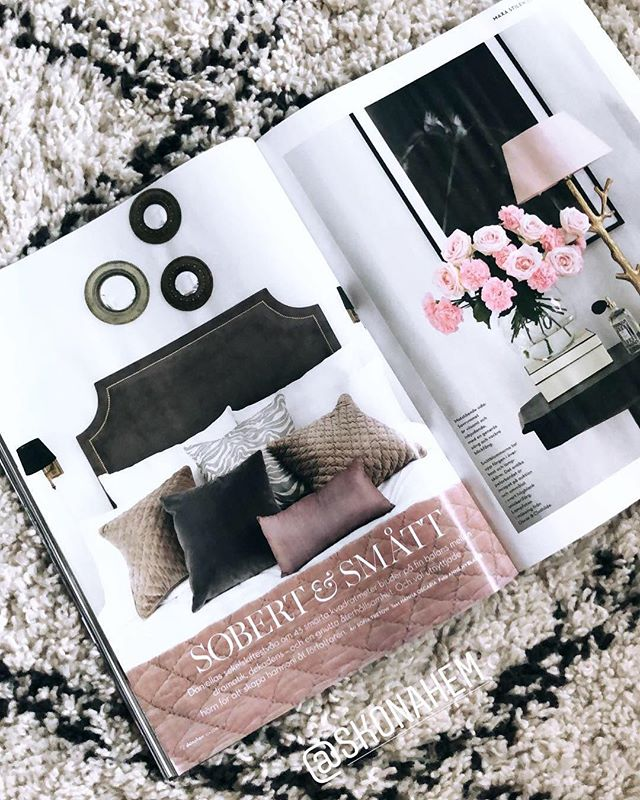 Fashionista Headboard spotted in latest issue of @skonahem 🌿 Styled by talented @tretowdeco  #Mimosabyinka #headboards #stockholm